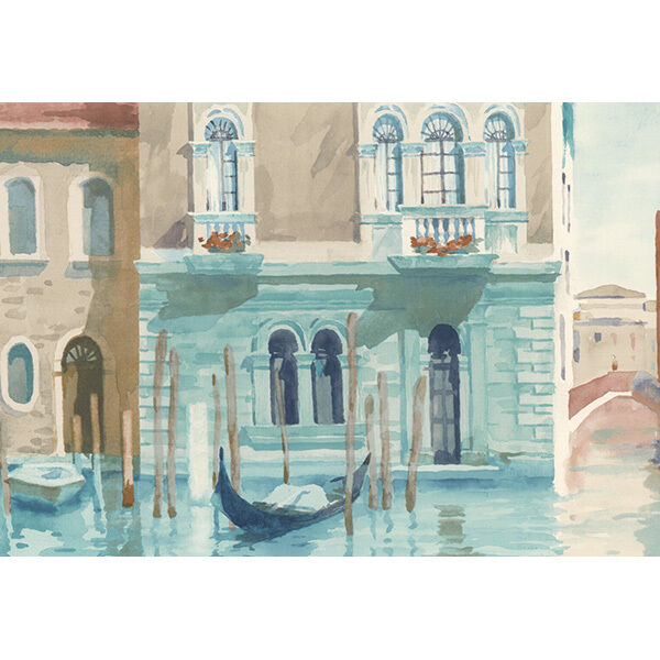Architectural Building Venice Italy Blue Waterway Scenic Wall paper Border