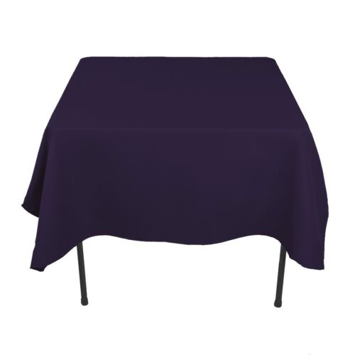 "25 Pack 90/""x90/"" Square nappes superpositions 100/% Fine Polyester Mariage Catering"