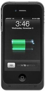 Black-iPhone-4-4S-Extended-Battery-Juice-Pack-Thinner-than-Mophie-Case-Air-Plus
