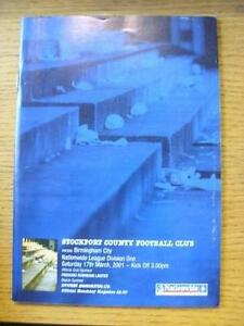 17032001 Stockport County v Birmingham City   Item In very good condition unl - Birmingham, United Kingdom - Returns accepted within 30 days after the item is delivered, if goods not as described. Buyer assumes responibilty for return proof of postage and costs. Most purchases from business sellers are protected by the Consumer Contr - Birmingham, United Kingdom
