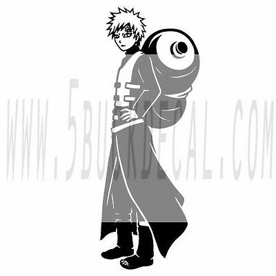 "12"" NARUTO GAARA WALL DECAL decor mural vinyl sticker"