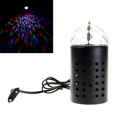 3W LED Crystal RGB Stage Light Voice-activated Rotating Colorful Bar KTV DJ Lamp