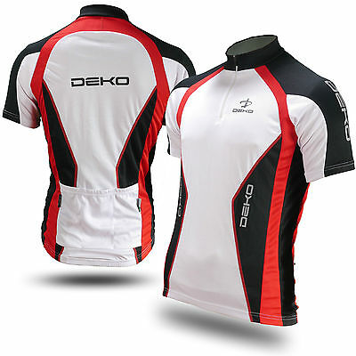 Deko Air Mens Cycling Bike Quality Outdoor Sports long short sleeve Jersey Top