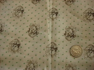 Vintage-Cotton-Blend-Fabric-FACES-ON-GREEN-HEART-BACKGROUND-1-Yd