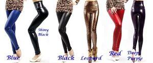 Women-Faux-Leather-Skinny-Leggings-Pants-Tights-Full-Length-Treggings-High-Waist