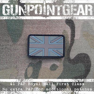 Gun Point Gear Velcro Morale Patch Union Jack Flag Small Multicam MTP British UK