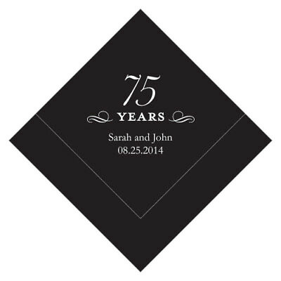 500 Personalized 75th Birthday Luncheon Napkins