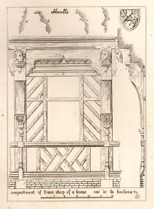 A-W-N-Pugin-039-s-Litho-Designs-1830-CARVED-COMPARTMENT