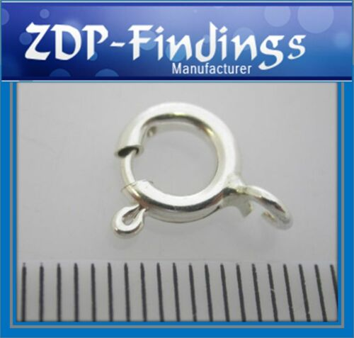 20pcs x Spring Ring Clasps 8mm  Sterling Silver 925 (951058)