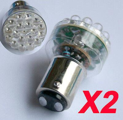 2ps 1157 24 LED BAY15D CAR TAIL BRAKE REAR WHITE LIGHT BULB Turn Lamp 12V DC
