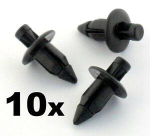 10x 6mm Plastic Rivet Fender & Trim Clips- Honda, Yamaha, Suzuki, Kawasaki etc