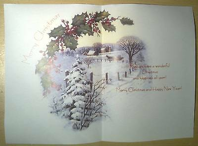 V8 Christmas card Inserts pack of 10