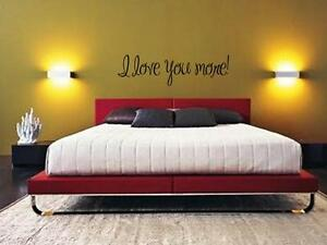 Love You More Wall Art i love you more wall art vinyl decal lettering words sticker