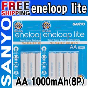 SANYO-eneloop-lite-8-x-AA-Ni-MH-Rechargeable-Battery