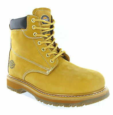 Mens Dickies Cleveland Steel Toe Cap Safety Honey Leather Work Boots Size 6-12