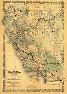 24x36-Vintage-California-Southern-Pacific-RR-Railroad-1876-map