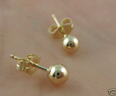 NEW Gold filled Round Ball Stud Earring 1mm-16mm