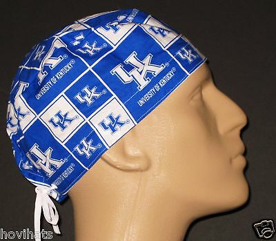 UNIVERSITY OF KENTUCKY SQUARES SCRUB HAT / FREE CUSTOM SIZING IF REQUESTED!