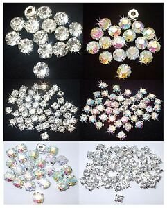 STITCH-ON-GLASS-CHATON-CLAW-CRYSTAL-GEMS-BLING-WEDDING