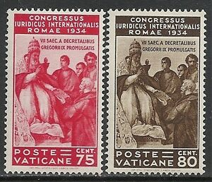 Vatican stamps 1935 YV 69-70 MLH VF