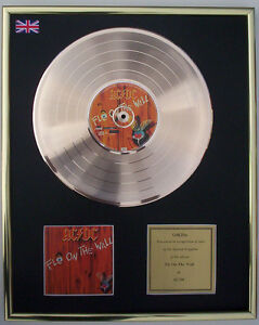 CD-GOLD-DISC-LP-BY-AC-DC-FLY-ON-THE-WALL-FREE-P-amp-P