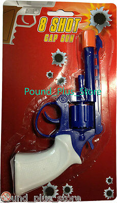 Cap Gun Revolver 8 Ring Shot Ring Cap Gun Fancy Dress, Party Bags Boys Toys