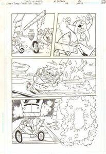Looney Tunes #108 p.8 Bugs Bunny & Yosemite Sam in a Race - Mike DeCarlo