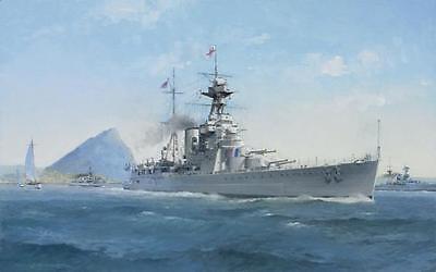 "HMS Hood Battleship Marine Painting Art Print - 14"" Print"