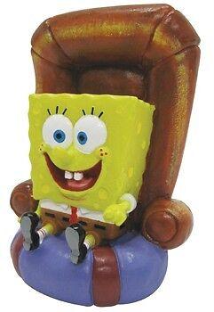 "SpongeBob Fish Aquarium Ornament MED 6"" SpongeBob Sitting In Chair SBR20"