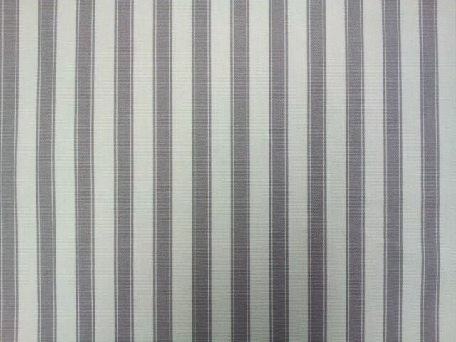 Ticking Stripe Cotton Grey Designer Curtain Upholstery Fabric