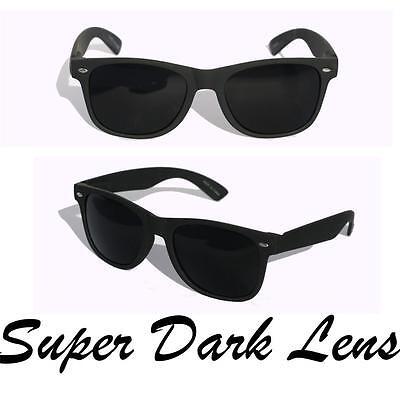 New Matte soft rubberized wayfarer sunglasses SUPER dark black lens Classic