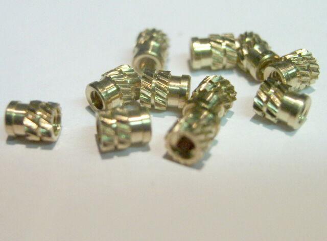 Einpressmutter M2 Messing Industriequalität  20 Stück-Packung