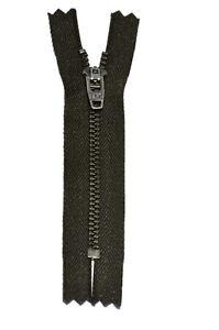 4-Antique-Nickel-Zipper-YKK-4-5-Auto-Lock-Closed-End-Dark-Olive-each