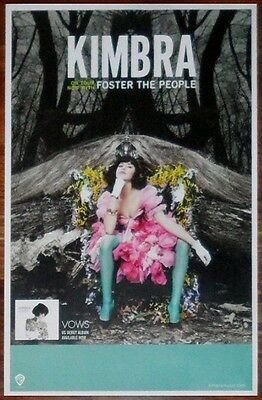 KIMBRA Vows Discontinued Ltd Ed RARE Poster! FOSTER THE PEOPLE M83 LORDE THE XX