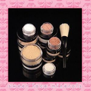 WARM-6-Piece-Starter-Kit-Mineral-Makeup-Set-Bare-Skin-Sheer-Full-Sz-Foundation