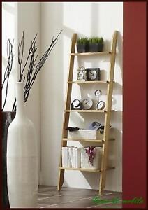 wandregal treppenregal leiter regal stufen stand kern buche massiv holz ge lt ebay. Black Bedroom Furniture Sets. Home Design Ideas