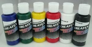 CREATEX-Airbrush-Paint-Set-6-pc-PRIMARY-Colors-2oz