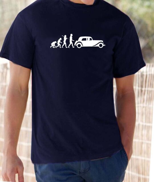 Evolution of Man, Citroen Traction Avant  t-shirt