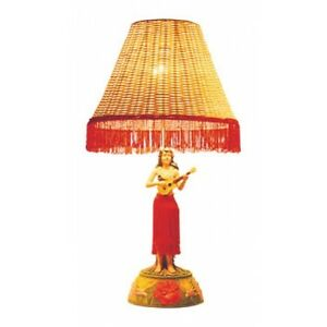 Hawaiian Hawaii Motion Vintage Hula Lamp ~ Hula Girl w/ Ukulele 26 ...