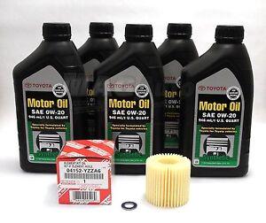 Genuine 2010 2012 Toyota Prius Complete Oil Filter Change