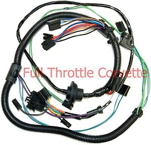 vintage air wiring schematic 1977 late corvette air conditioning ac wiring harness