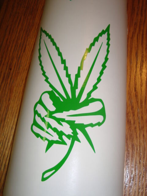 PEACE LEAF Marijuana Pot Weed funny party high Vinyl sticker car DECAL