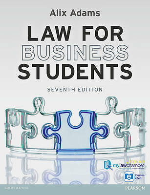 Law for Business Students by Alix Adams (Paperback, 2012)