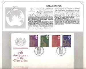 GREAT-BRITAIN-835-838-25TH-ANNIVERSARY-QUEEN-ELIZABETH-II-CORONATION-FDC