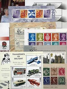 GB-1978-2005-Mini-Miniature-Sheets-mnh-used-Multiple-Listing