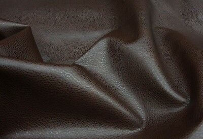 Vinyl Upholstery Faux Leather Fake Fabric Dark Brown Soft Ford sold BTY 54""