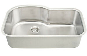Dowell Sinks : Dowell-6001-3121-18-Gauge-Single-Bowl-Undermount-Stainless-Steel ...