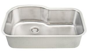 Dowell Sinks : Dowell-6001-3121-18-Gauge-Single-Bowl-Undermount-Stainless-Steel ...