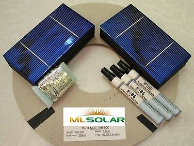 1KW+ 3x6 Solar Cells PLUS TAB Wire/Bus Flux Make 12V Solar Panel Battery Charger