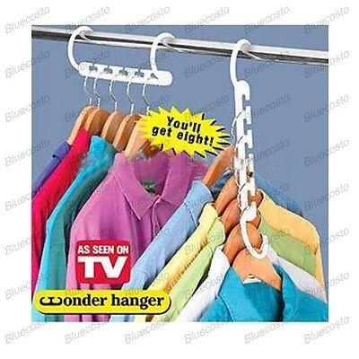 3x Magical Space Saver Saving Wonder Magic Hanger Clothes Closet Organize Hook X